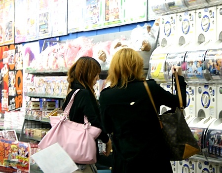 Women shopping for Manga in an Akihabara Manga store